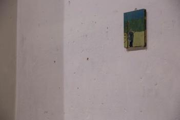 Michael Fanta; 'O.T.' 2013. Öl auf Holz (16.5 x 12 cm)
